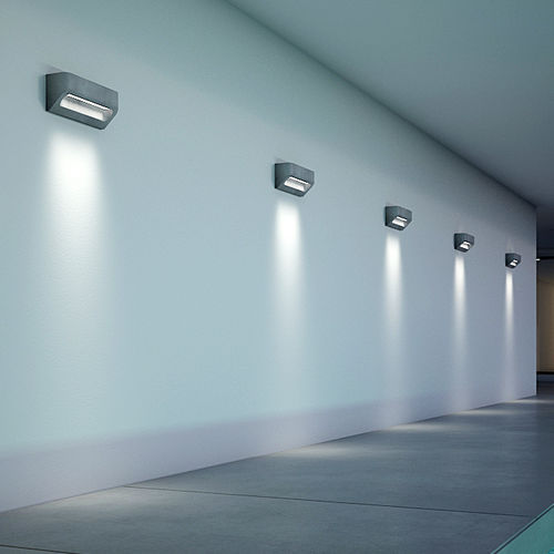 Contemporary wall light / outdoor / concrete / LED DESMI Urbi et Orbi