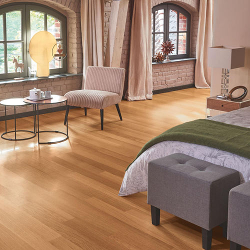 engineered parquet floor / glued / oiled / matte