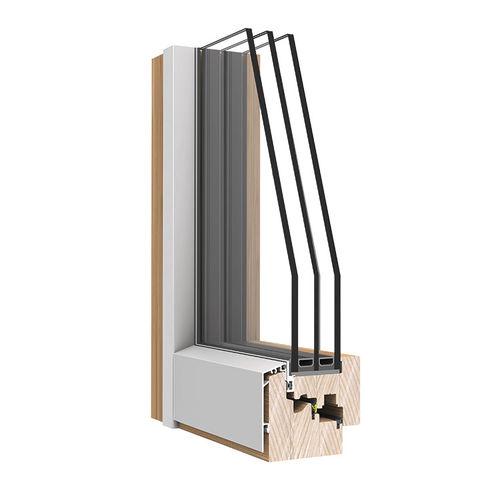 casement window / wooden / aluminum / double-glazed