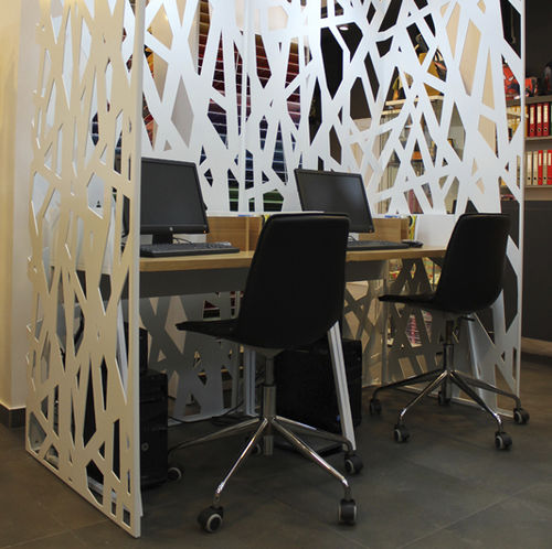contemporary screen / metal / for offices / for open plan areas