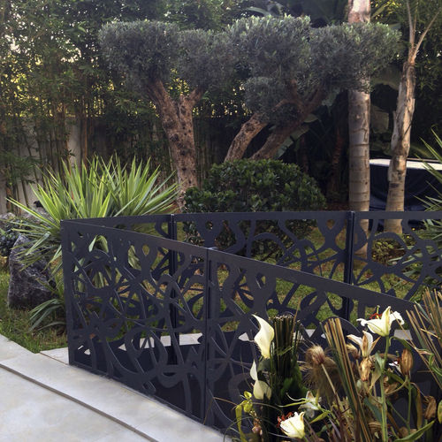 Metal railing / with panels / perforated sheet metal / outdoor BPLAN