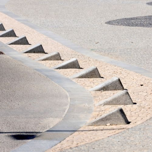 parking prevention bollard / stone / high-resistance