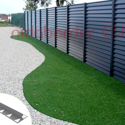 flexible edge / for landscaping / PVC / linear