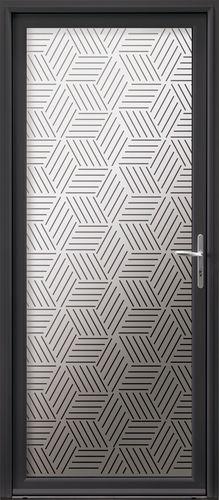 entry door / swing / aluminum / glazed