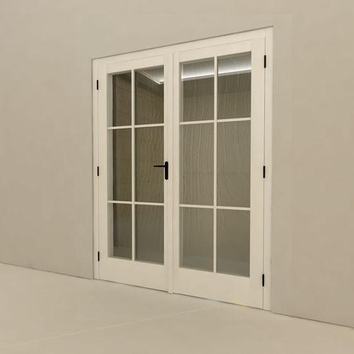 Swing French Door Wooden Double Glazed Pinus Sp J J M