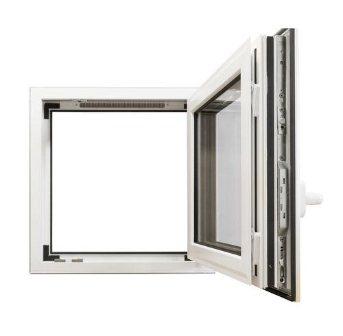 tilt-and-turn window / casement / aluminum / double-glazed