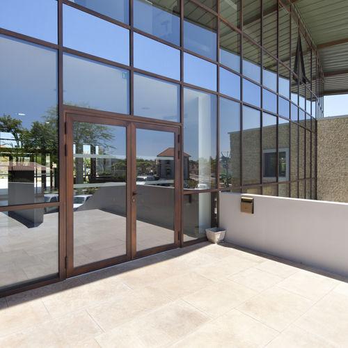 entry door / swing / aluminum / security