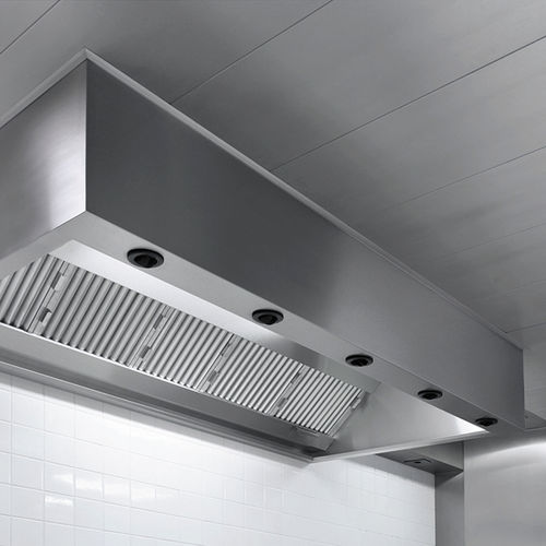 island range hood / ceiling-mounted / commercial