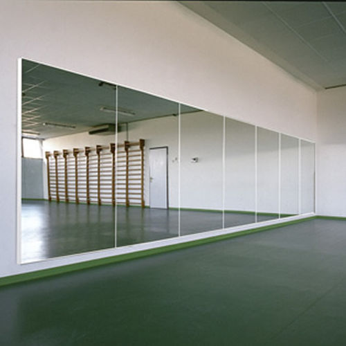 wall-mounted mirror / contemporary / rectangular / dance studio