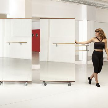Free-standing mirror / contemporary / rectangular / commercial BILLY Dinamica Ballet