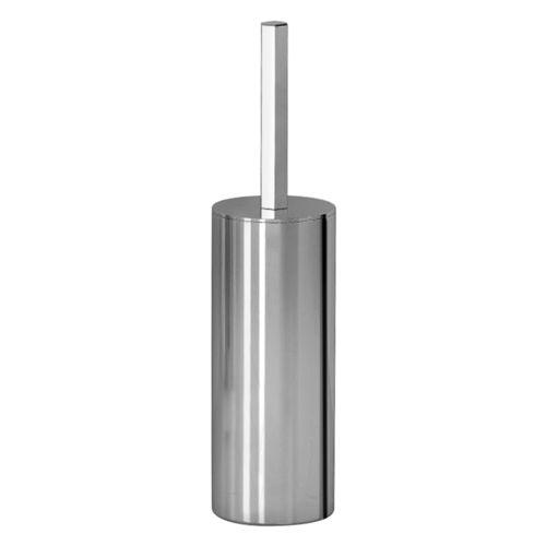 metal toilet brush holder / floor-mounted / for hotels