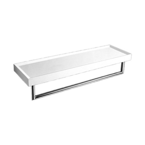 wall-mounted shelf / contemporary / chromed metal / ceramic