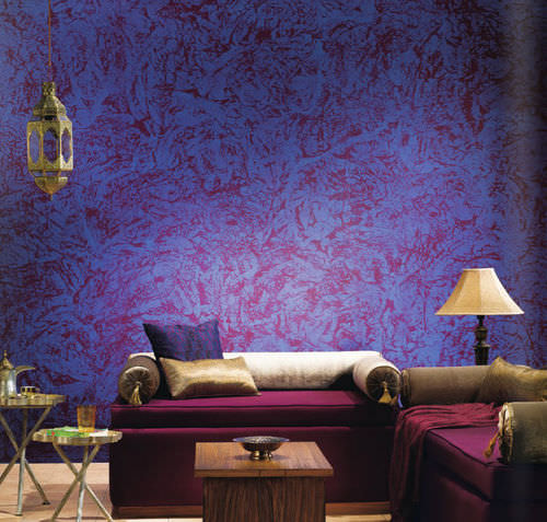 decorative coating / interior / for walls / water-based