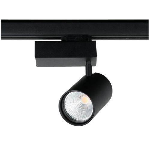 LED track light / round / aluminum / steel