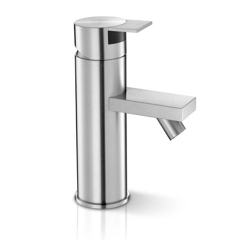 bidet mixer tap / stainless steel / bathroom / 1-hole