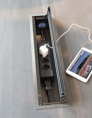 power socket / multi-person / recessed / aluminum
