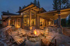 Modern Log Homes Photos Of A Modern Log Cabin Golden Eagle Log - Modern log cabin homes
