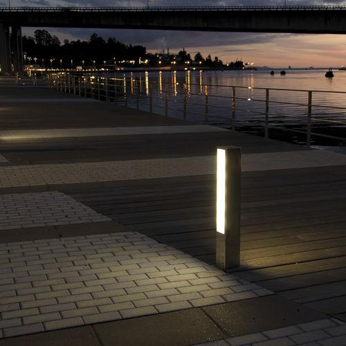 Urban bollard light / contemporary / stainless steel / acrylic ADM Setga