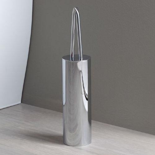 chrome toilet brush / brass / floor