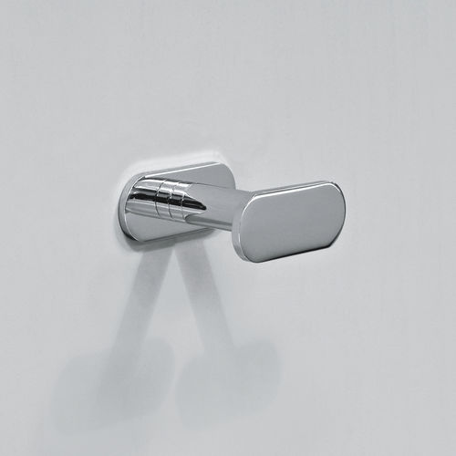 contemporary coat hook / chrome-plated brass / bathroom / for hotels