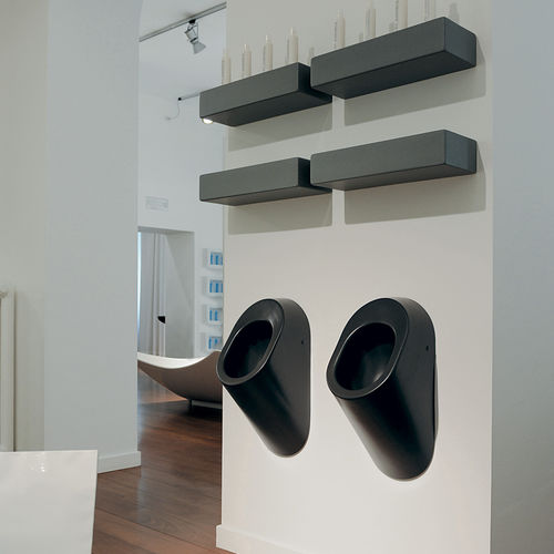 Wall-mounted urinal / ceramic KEY: KY29 by Silvana Angeletti & Daniele Ruzza FLAMINIA