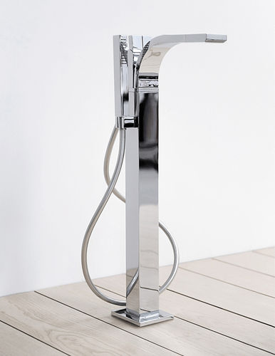 Bathtub mixer tap / floor-mounted / chromed metal / brass SI: SI2085 by Alexander Duringer & Stefano Rosini FLAMINIA