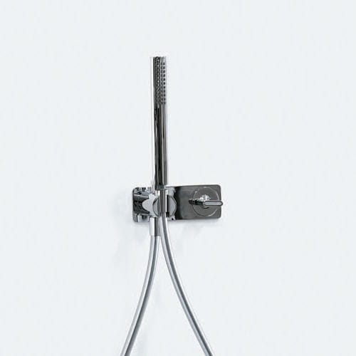 shower mixer tap / built-in / chromed metal / brass