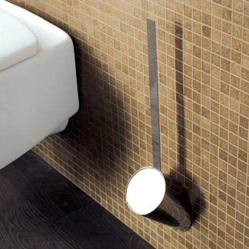 brass toilet brush / wall-mounted / for hotels
