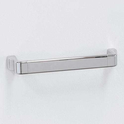 1-bar towel rack / wall-mounted / brass / chrome