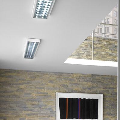 surface-mounted light fixture / LED / rectangular
