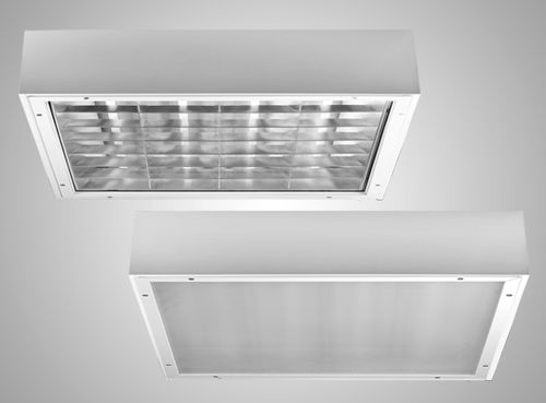 surface-mounted light fixture / LED / square / IP65