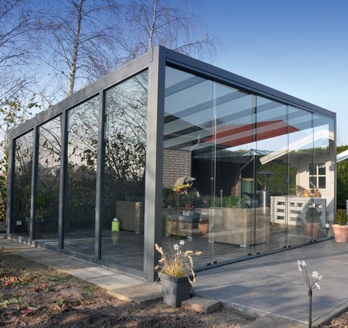 self-supporting conservatory / aluminum / all glass