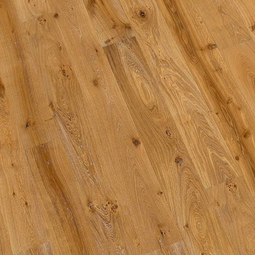 engineered parquet floor / glued / floating / aged