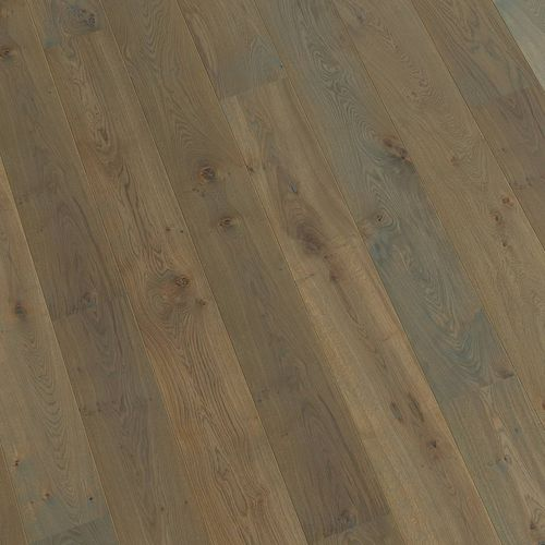 engineered parquet floor / glued / aged / FSC-certified