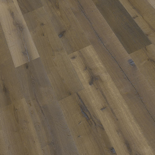 engineered parquet floor / glued / nailed / oiled