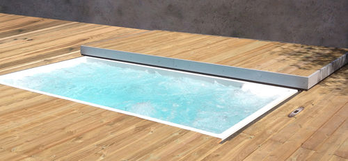 Built-in hot tub / rectangular / 4-seater / outdoor CORAL 100  egoe