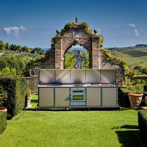 Outdoor kitchen / contemporary / aluminum / steel LINEAR Samuele Mazza by DFN srl