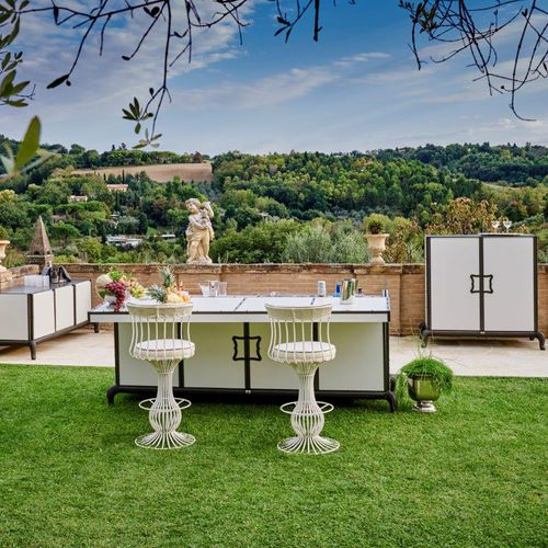 Outdoor kitchen / contemporary / steel / aluminum LINEAR Samuele Mazza by DFN srl