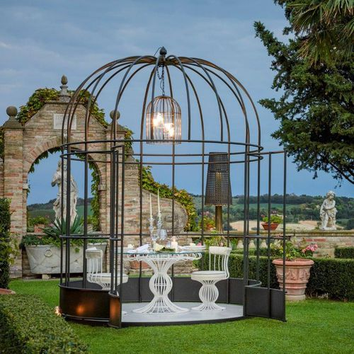 Iron gazebo / fabric roof / for hotels SIRIO BIRD CAGE Samuele Mazza by DFN srl
