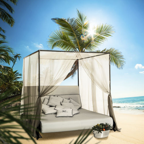 Canopy garden bed / double / traditional / fabric CANOPO Samuele Mazza by DFN srl