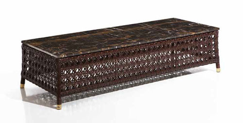 Coffee table / contemporary / rattan / rectangular RIGEL Samuele Mazza by DFN srl