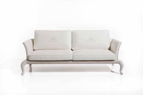 Traditional sofa / garden / rattan / 2-seater ANTARES   Samuele Mazza by DFN srl