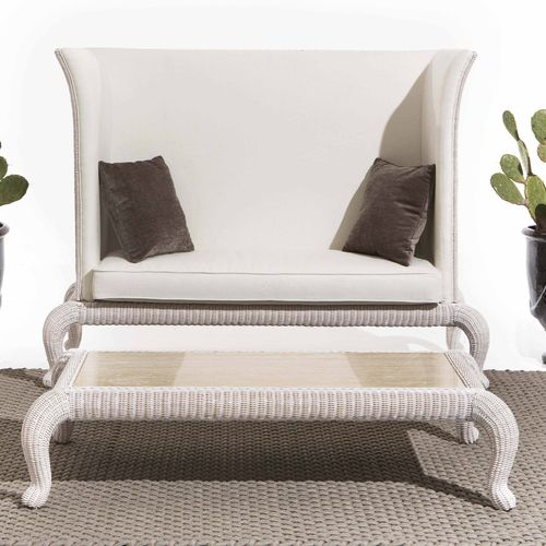Traditional sofa / rattan / 2-seater / high back ANTARES Samuele Mazza by DFN srl