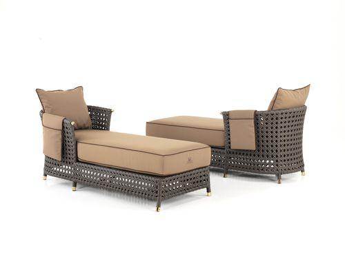 Traditional lounge chair / resin wicker / garden WEZEN Samuele Mazza by DFN srl