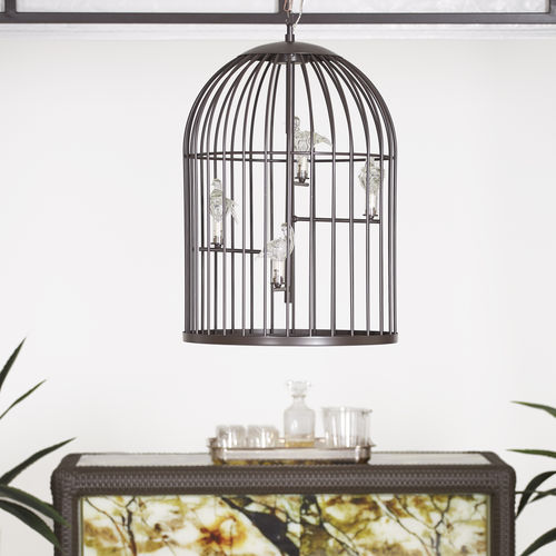 pendant lamp / traditional / wrought iron / handmade