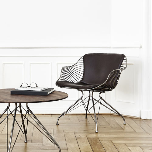 contemporary armchair - OVERGAARD & DYRMAN