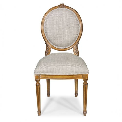 contemporary dining chair / upholstered / medallion / fabric