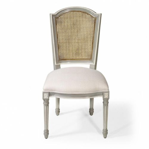 french style dining chair / upholstered / fabric / leather