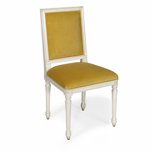 contemporary dining chair / upholstered / fabric / oak