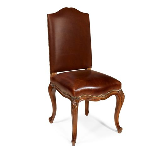 traditional dining chair / upholstered / high back / fabric